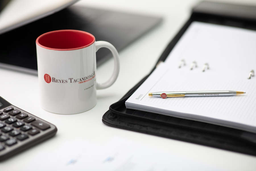 mug and notebook with pen
